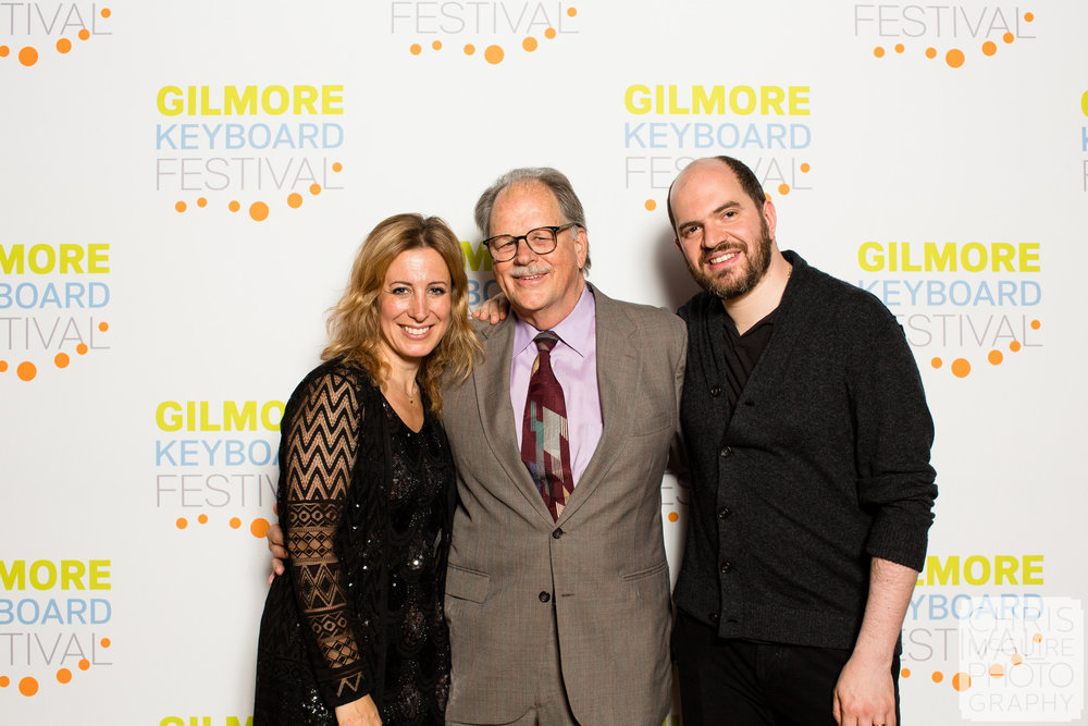 Gilmore Artists Ingrid Fliter and Krill Gerstein with Gilmore Director Dan Gustin