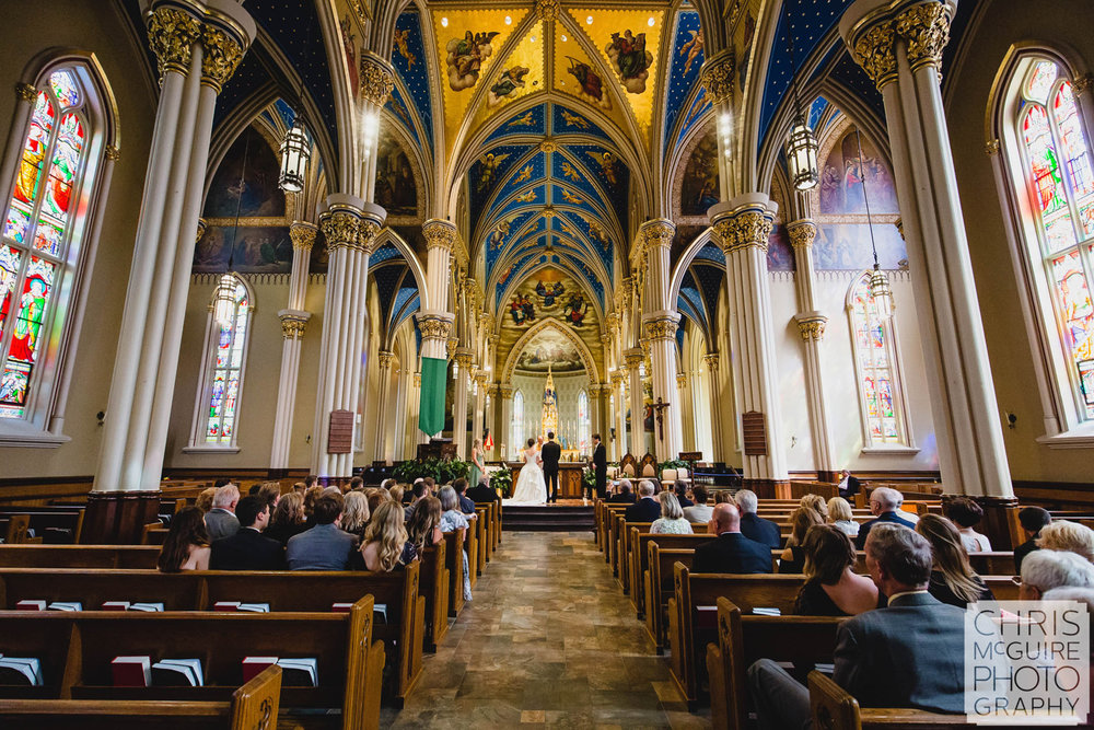 notre dame basilica of sacred heart wedding