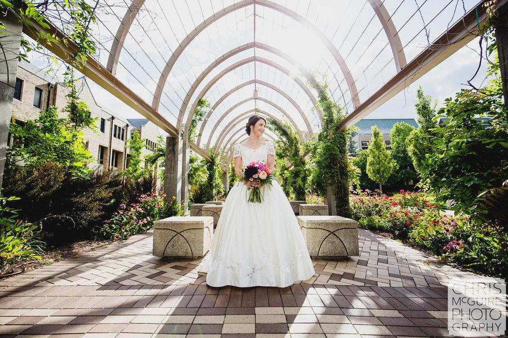 bride at notre dame garden