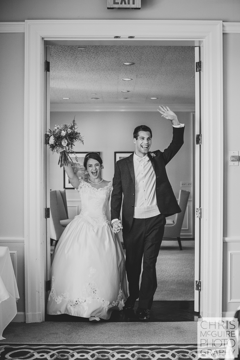 bride groom grand entrance at reception