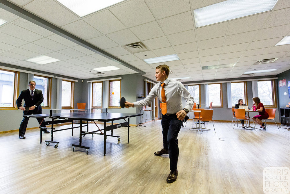 company break room ping pong