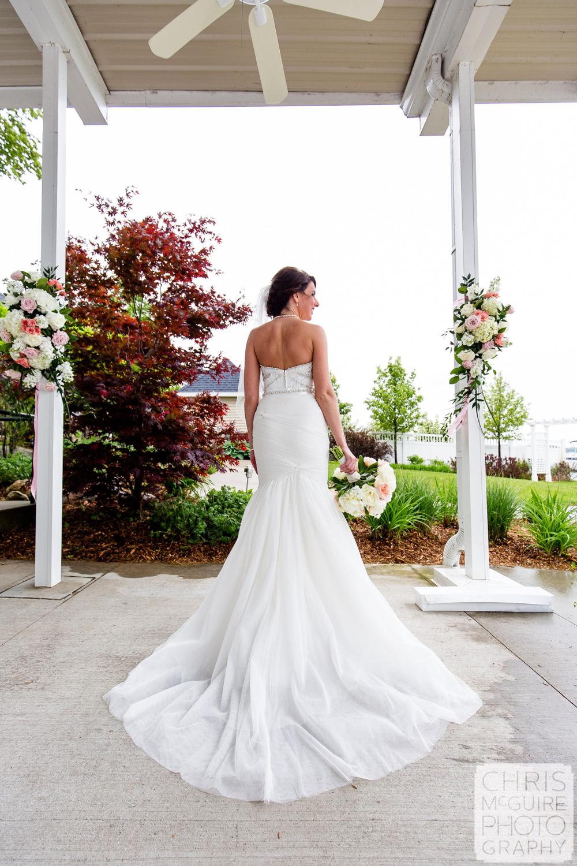 bride back of dress