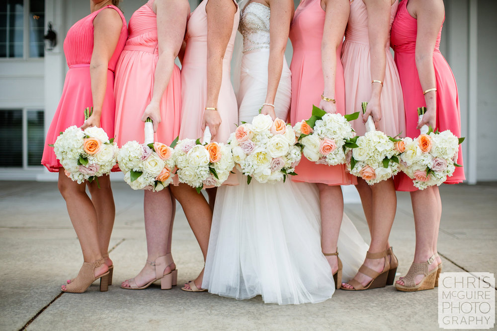 wedding bouquets and shoes
