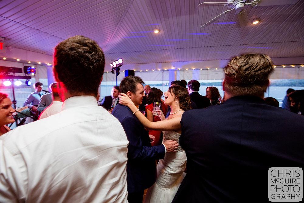 bride groom dancing at wedding