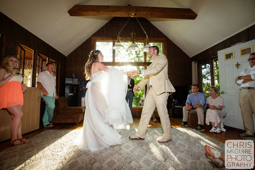 first dance in beach cottage