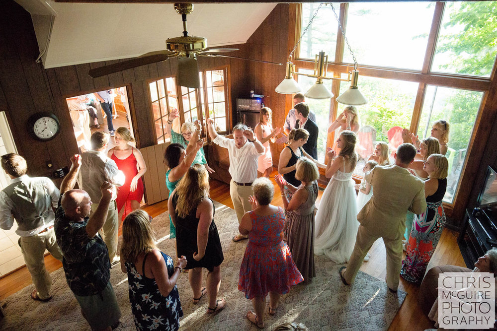 beach cottage wedding dance floor