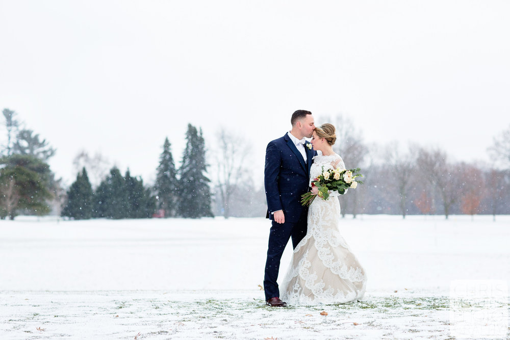 central illinois winter wedding photography