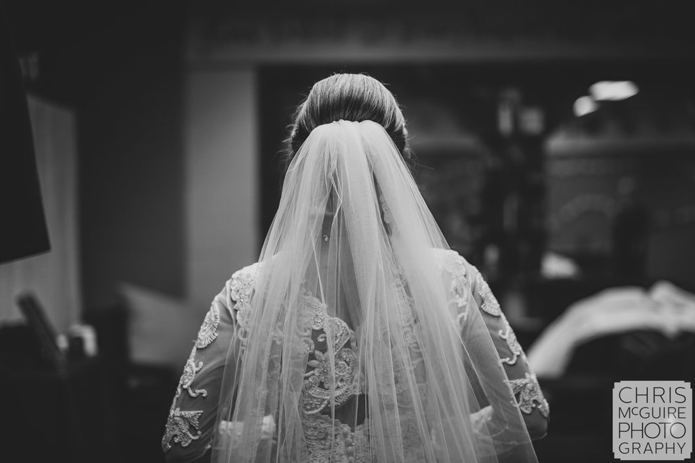 bride with veil peoria il
