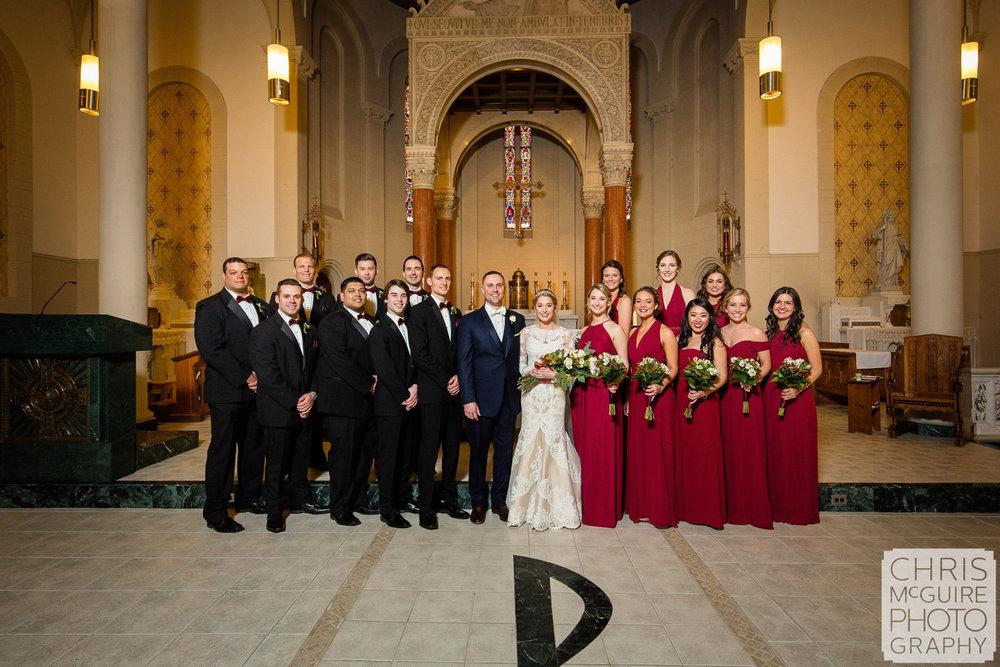 wedding party in church