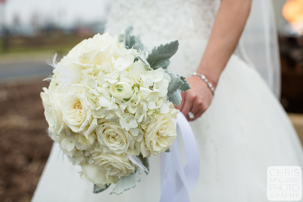 bridal bouquet white