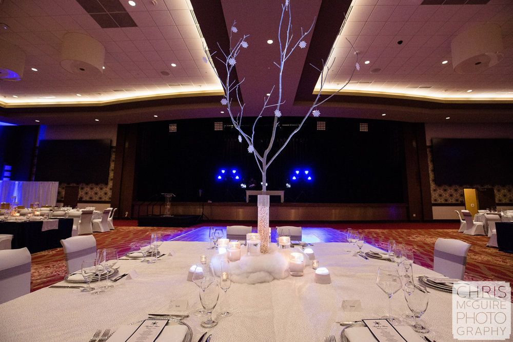 wedding reception centerpiece ballroom