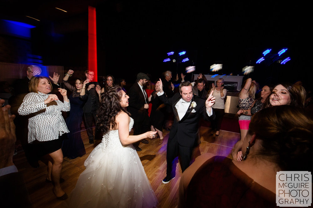 bride groom dancing in ballroom reception