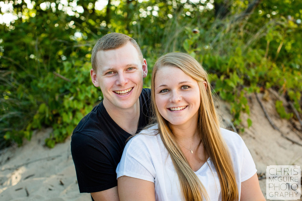 couple on beach engagement