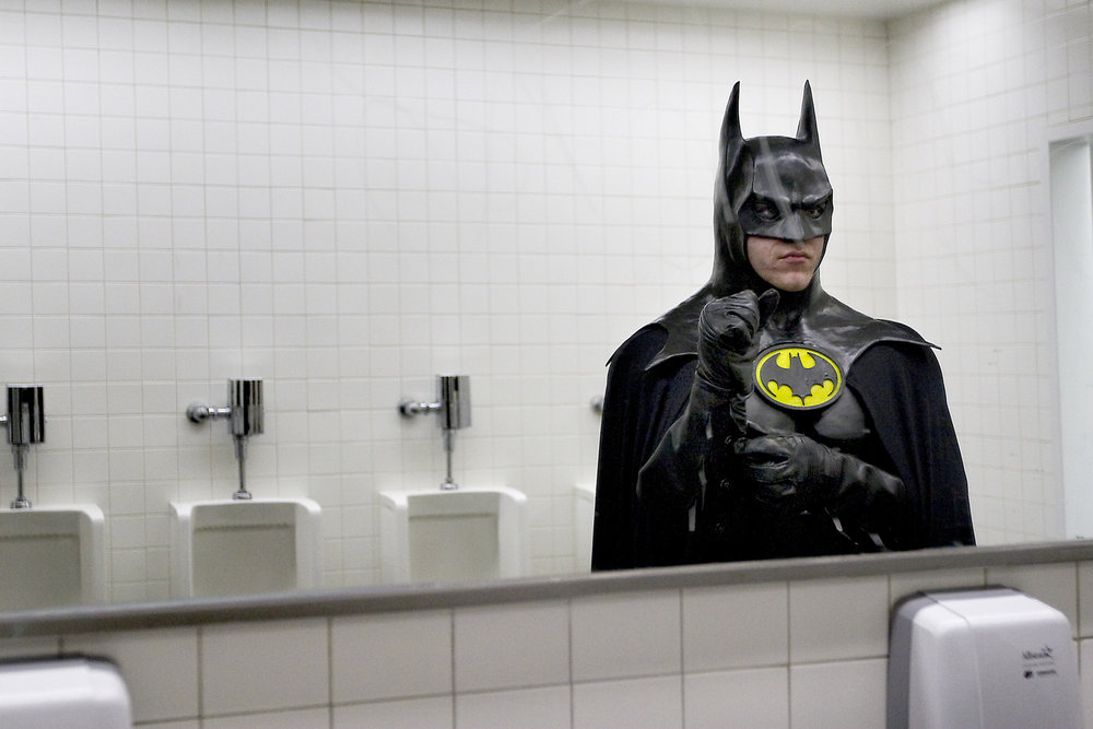 batman in bathroom
