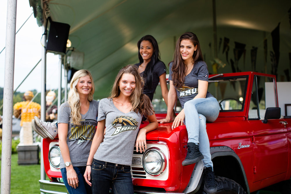models on bronco