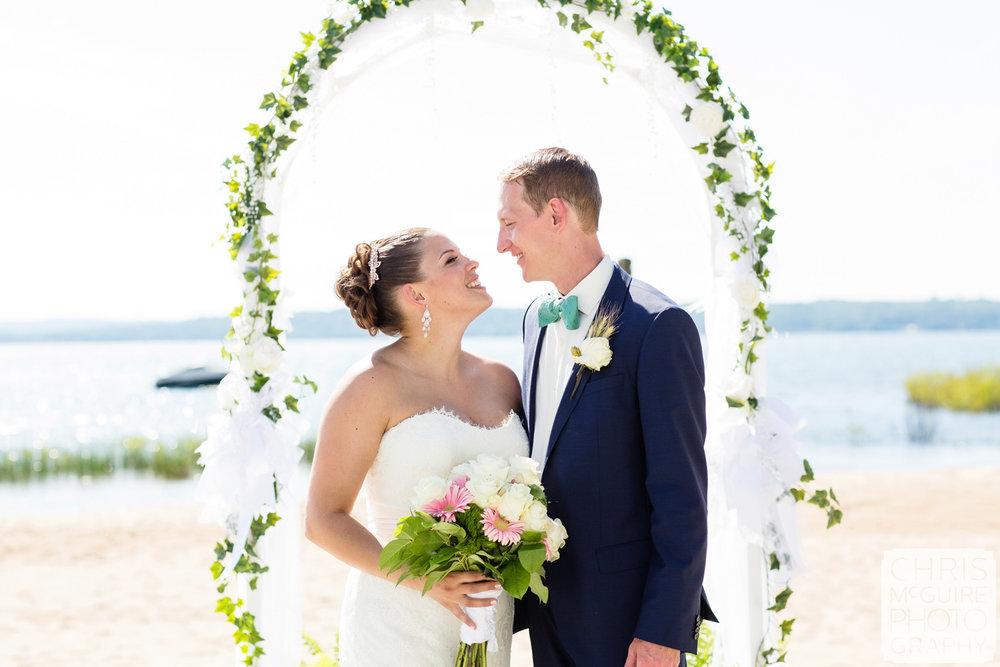 bride groom wedding arch