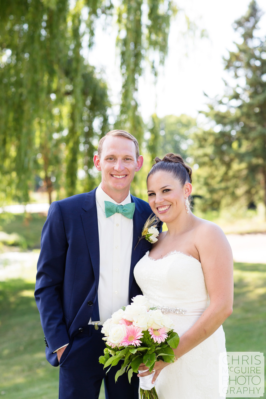 bride groom by weeping willow tree