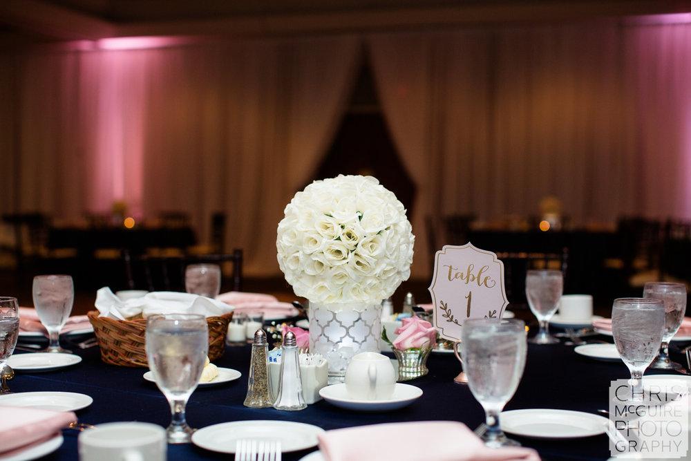 wedding reception table centerpiece