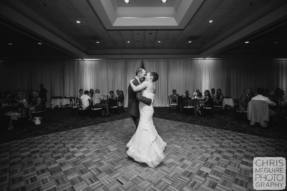 bride groom first dance in ballroom peoria
