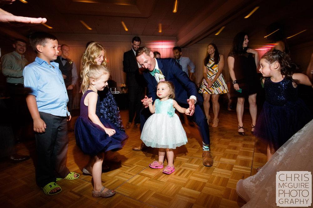 groom on dance floor at wedding