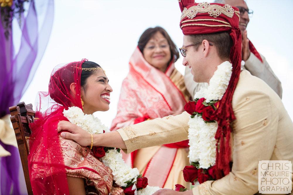 bride laughing indian wedding
