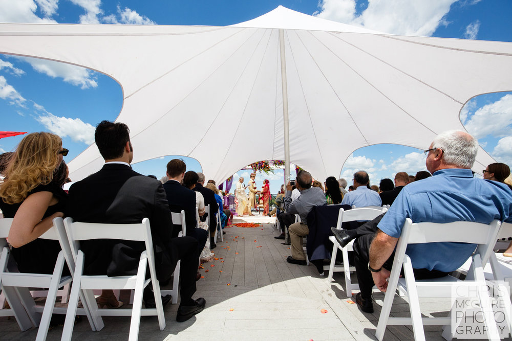 outdoor indian wedding skydeck