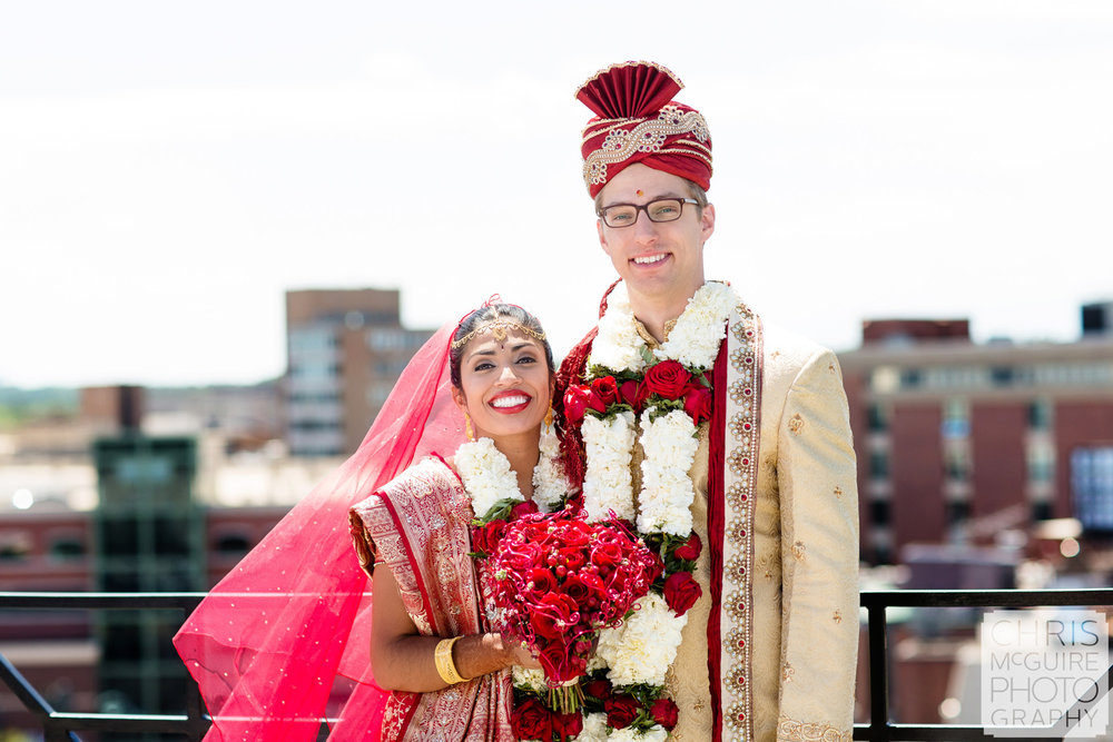 indian bride groom outdoor portrait