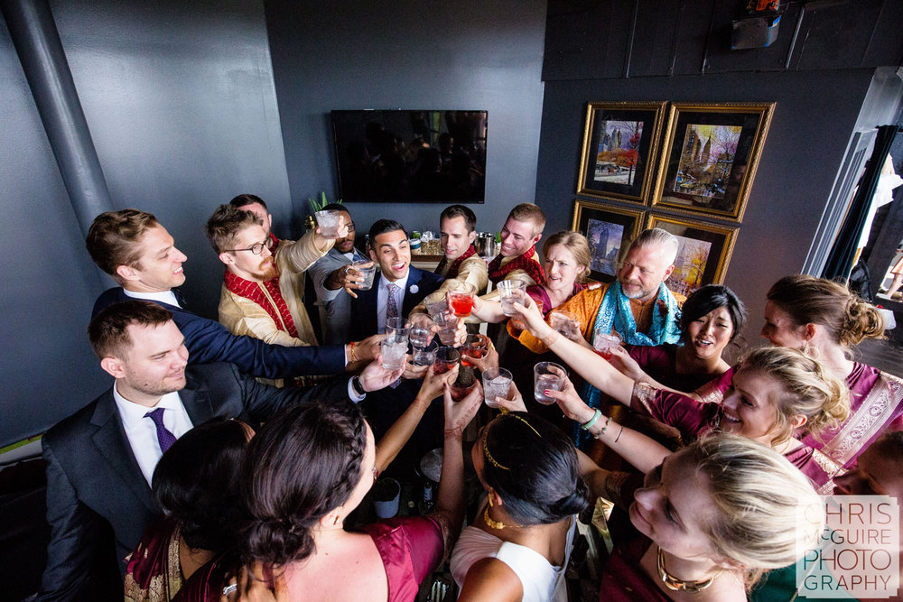 wedding party toast