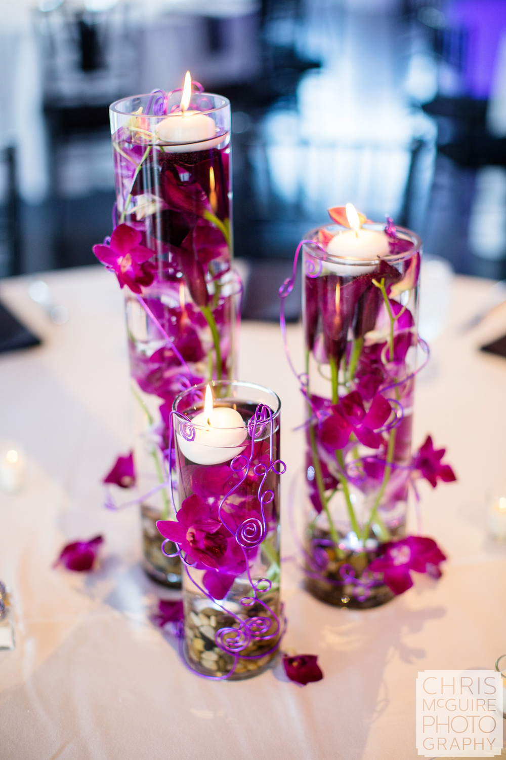 orchid wedding centerpiece
