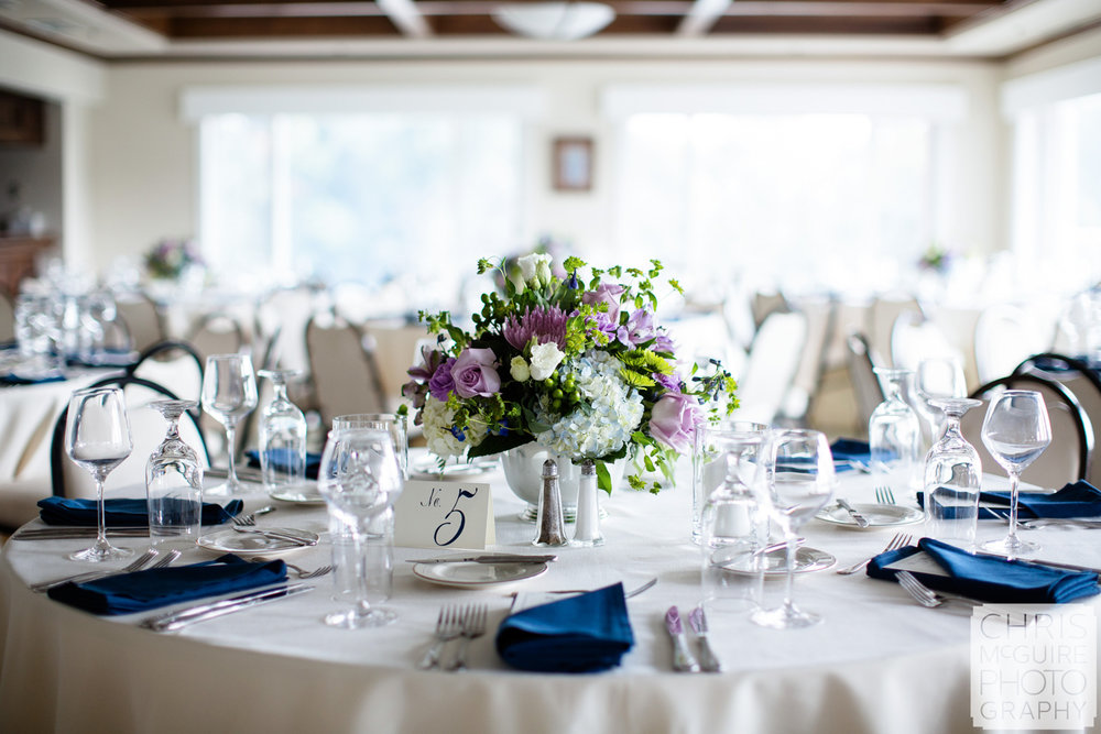 country club wedding reception table