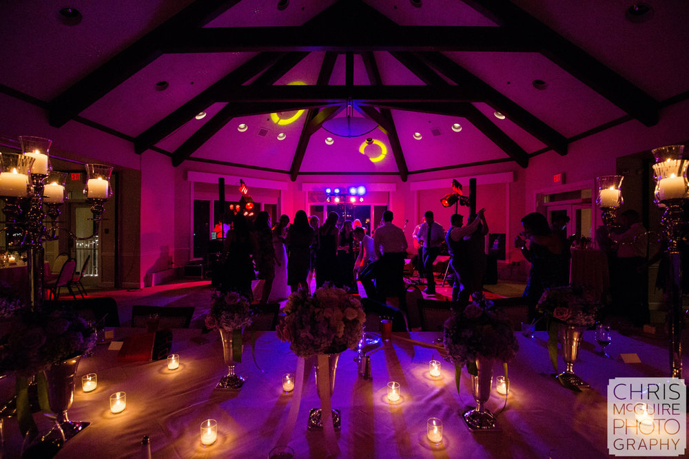 country club wedding dance floor