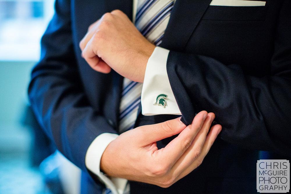 groom msu cufflinks