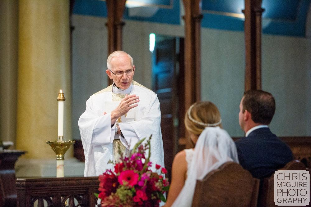 priest sermon during wedding
