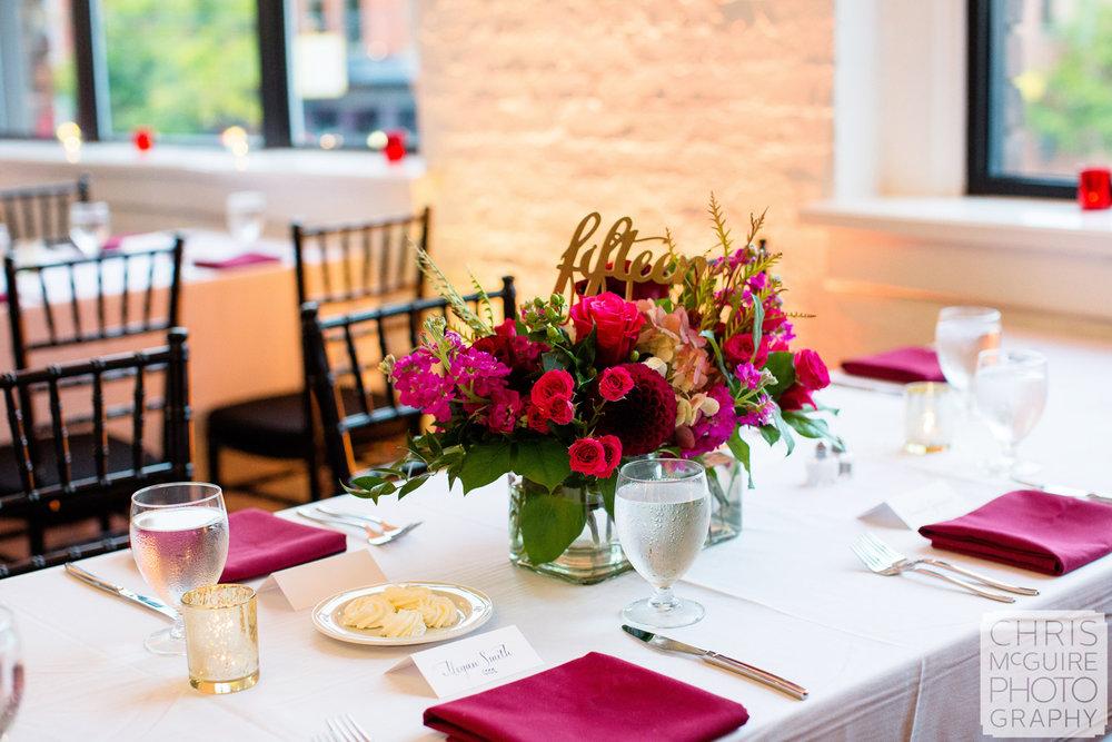 wedding reception table centerpiece fall