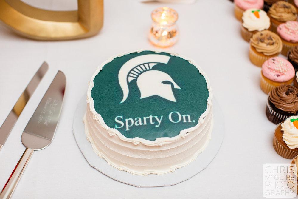 msu sparty on wedding cake
