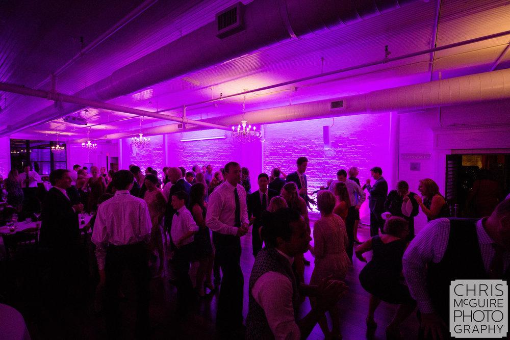 wedding dance floor loft 310 purple light