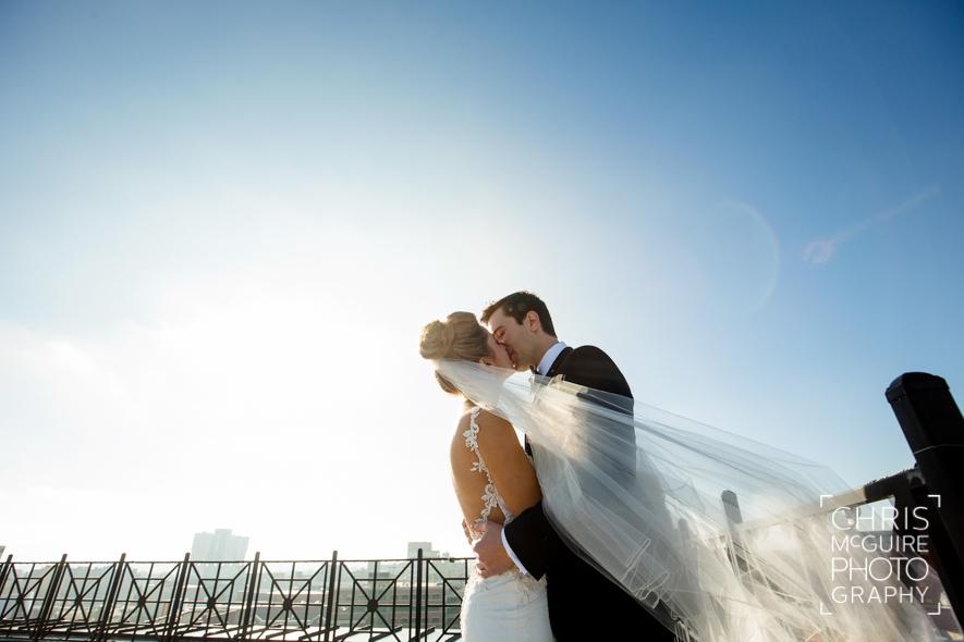 bride groom sky veil
