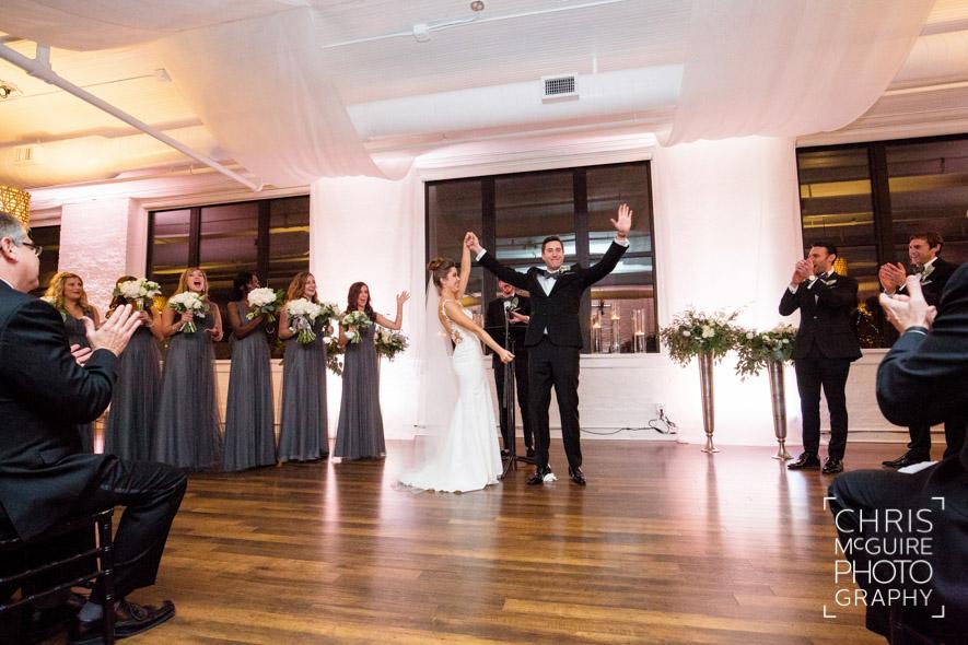 groom cheering indoor wedding ceremony loft 310