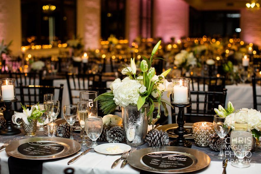 loft 310 wedding reception tables