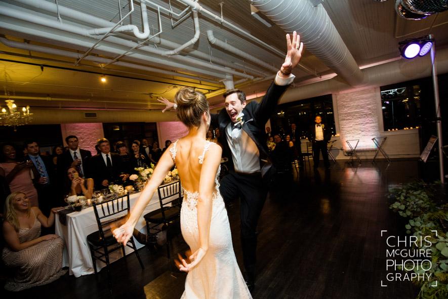goofy groom dancing