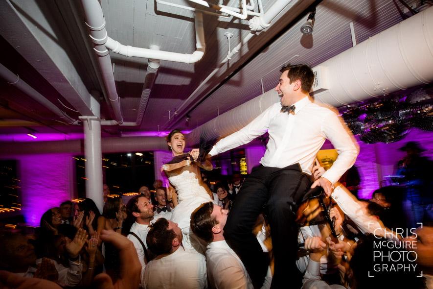 bride groom horah loft wedding reception