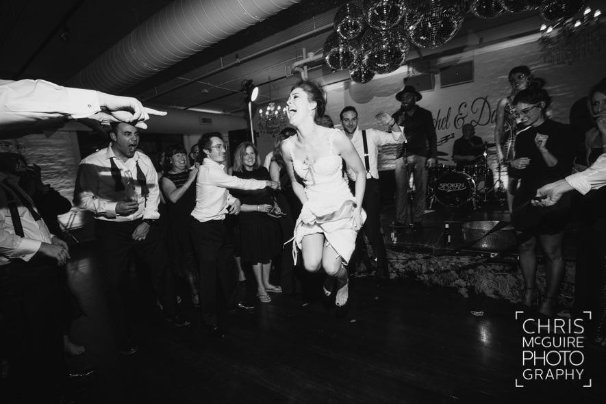bride jumping wedding dance