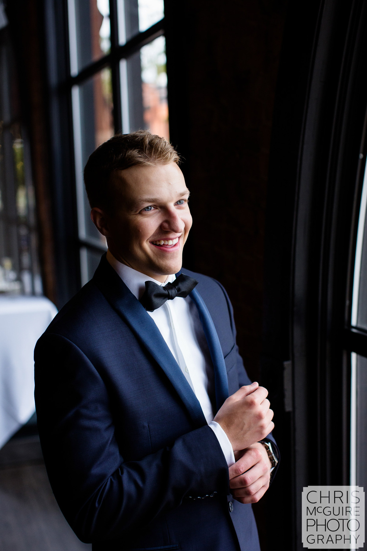 groom in tux