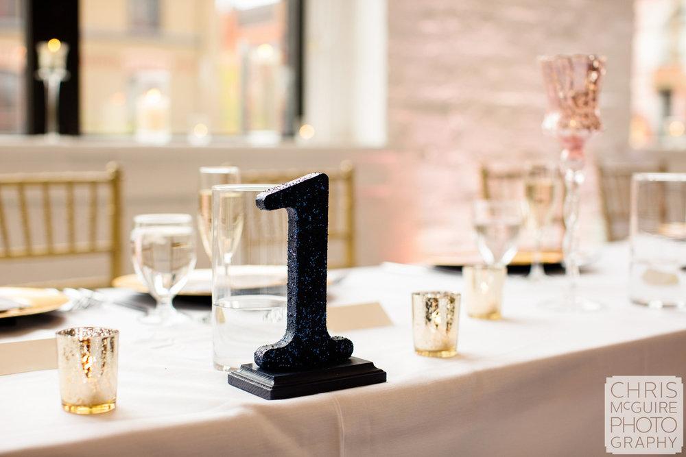 table one wedding reception