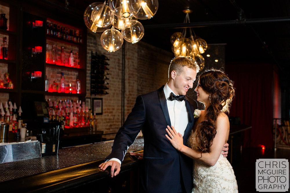 bride groom in gatsby bar