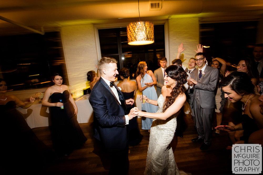 bride groom dancing at wedding reception