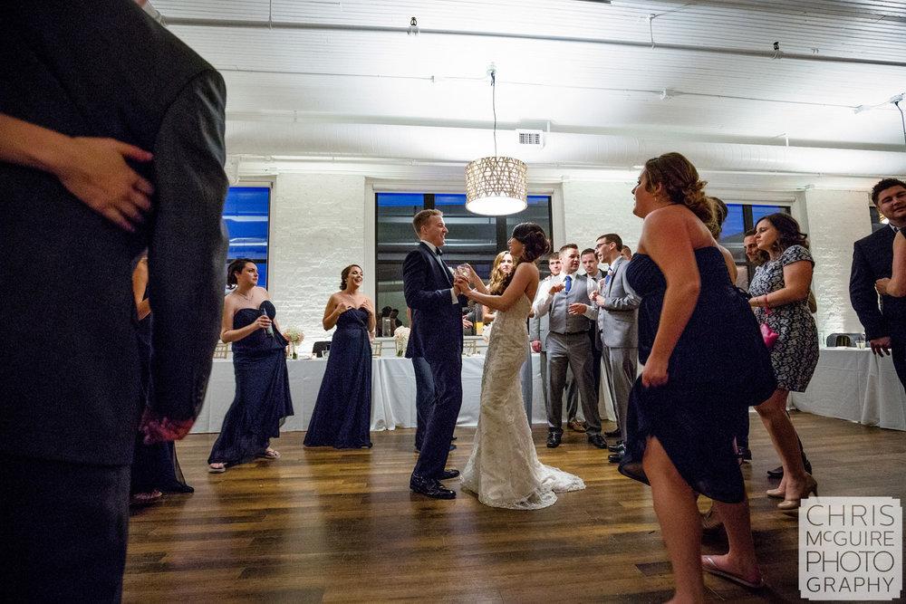bride groom dancing at wedding reception peoria
