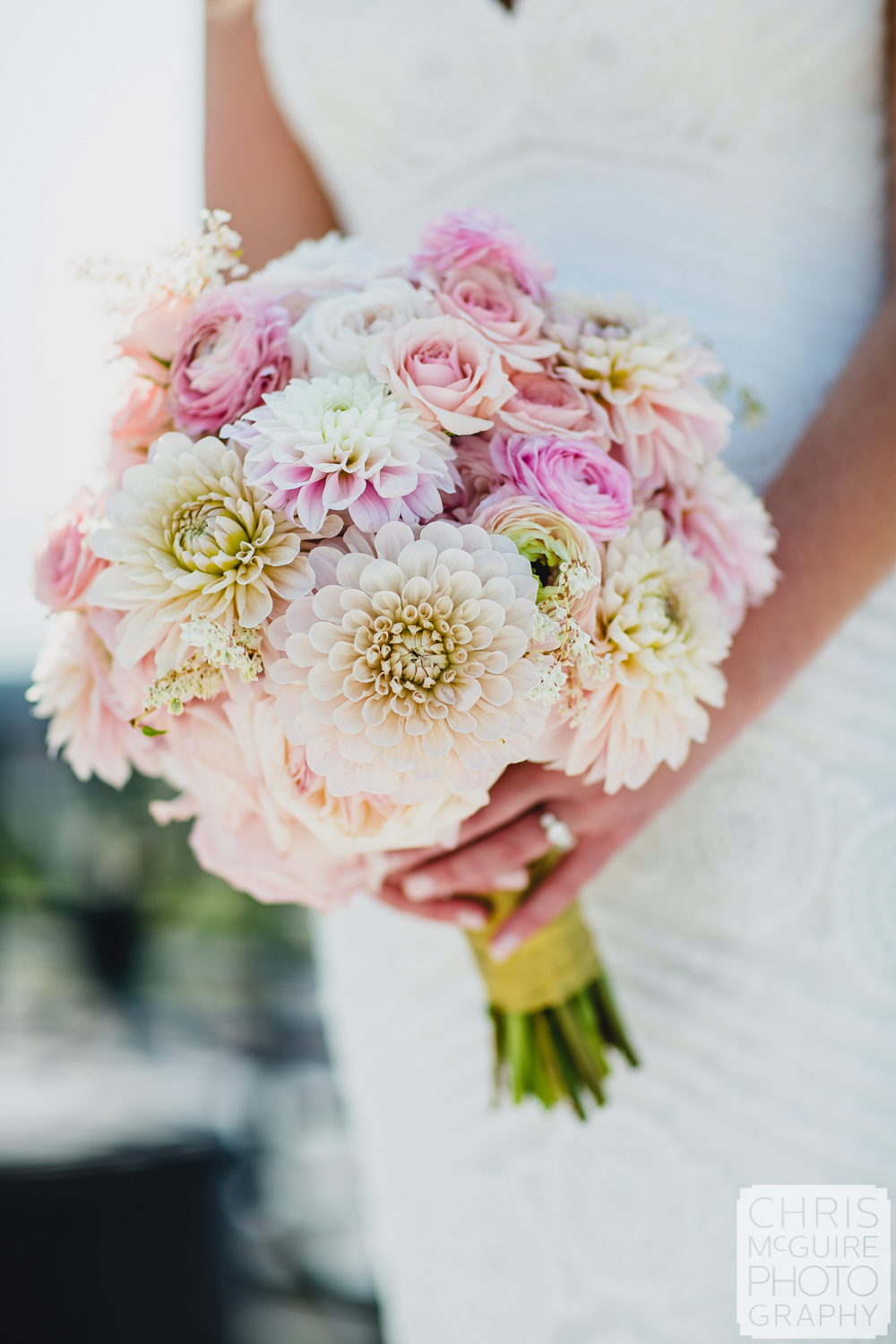 peoria wedding bouquet pink