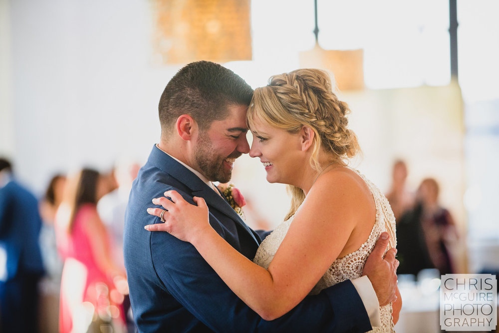 bride groom first dance at wedding reception