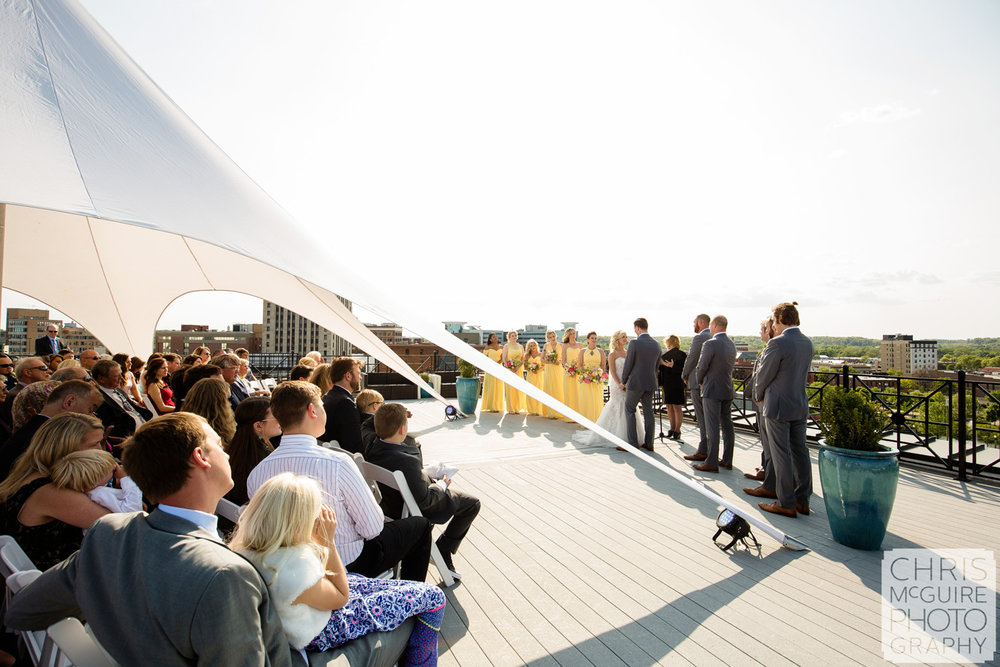 skydeck wedding ceremony